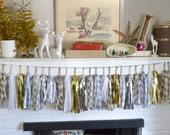 Winter Wonderland   Chevron   Diamonds   Polka Dots   Gold   Silver   27 Sparkle & Shine Tissue Tassel Garland