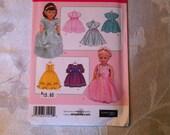 Simplicity Pattern 3547 Fancy Dresses for 18 Inch Dolls New Uncut