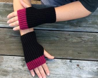 Fingerless Knit Gloves, Knit Texting Gloves,  Wrist Warmers, Hand Warmers, Knit Fingerless Gloves