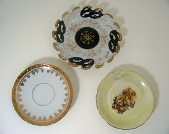 Vintage Decorative Plates Wall Plates Saucers Trinket Dishes
