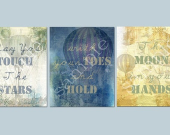 "Set of 3 *8x10 Prints ""May You Touch The Stars with your Toes and Hold The Moon in your Hands"""