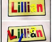 Custom wood children's name puzzle