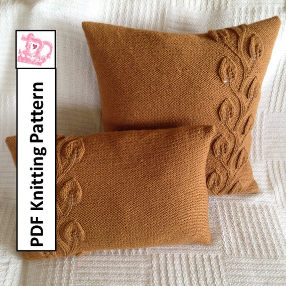 Knitting Pillow Pattern : Pdf knitting pattern knit pillow cover knitted