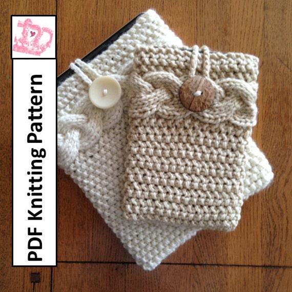 Pdf Knitting Pattern Sleeve Cover Case For Ipad Mini Kindle Fire