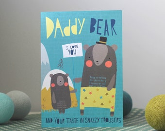 Fathers Day Card with Little Bear Characters