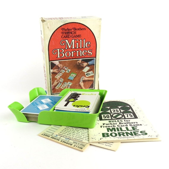 parker brothers mille bornes card game parker brothers. Black Bedroom Furniture Sets. Home Design Ideas