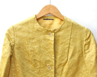 Gold Textured Bolero Jacket
