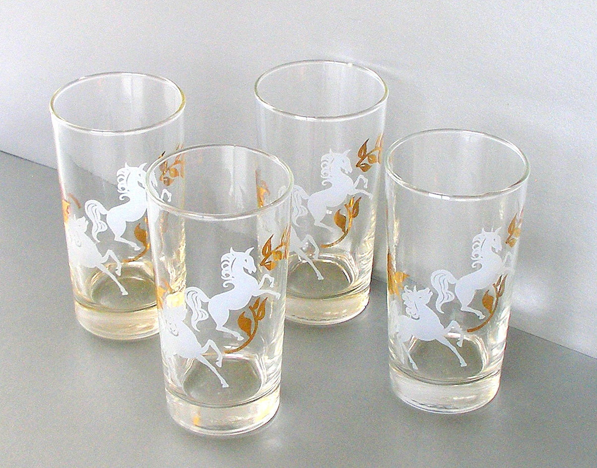vintage libbey glassware set cocktail glasses barware 60s