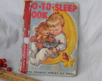 1949 Go To Sleep - Children's Book - Sweet Illustrations About Animals and Sleep - Night Time Book