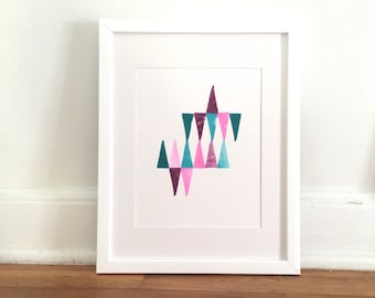 Triangles #1 in Pink, Purple, Teal