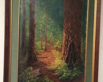 Vintage Original Oil Painting on Canvas by Diane Lochocki Framed Impressionist ART Botanical