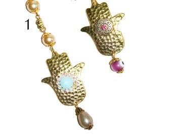 Hamsa keychain, gold keychain, gold key ring, hamsa charm, evil eye keychain, evil eye key chain