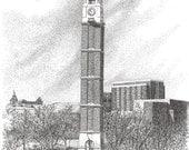 Purdue University Bell Tower, digital file