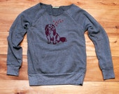 by my side Cavalier King Charles Sweatshirt in Grey, S,M,L,XL