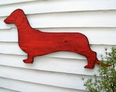 Dachshund Dog Wall Decor Dog Sign Large Wooden Doxie Dachshund Wall Art
