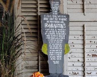 Frankenstein Halloween Decor Party Decoration Monster Frankenstein Quote
