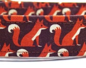 Fox Dog Collar and Leash, Brown Dog Collar, Foxy Collar, Fox Dog, Boy Collar, Brown Collar, Cute Fox, Cool Dog Collar, Fox Leash