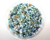 Beachcomber Frit Blend for Lampwork Glass Bead Making 96 CoE Glass Sky Blue Sage Green Mint Seafoam Aquamarine Sand Mustard Gold 4 oz. Jar