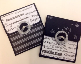 Two graduation gift card holders- high school college Hats off to You
