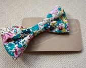 Adorable crocodile clip Fabric Bow made with beautiful Liberty Fabric