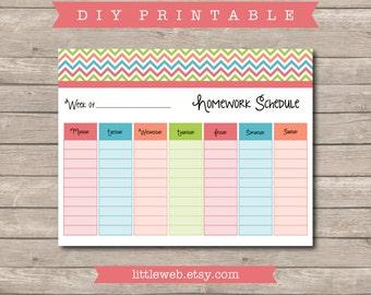 Homework organizer | Etsy