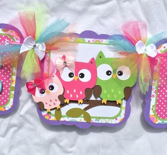 owl baby shower owl banner owl family banner it 39 s a girl banner