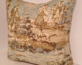 Bosporus Toile Flax 197 Pillow Cover/Sham by Covington