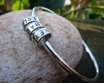 Personalised Silver Bangle