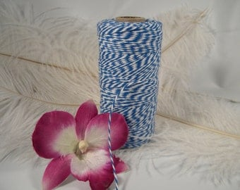 CLEARANCE SALE | Bakers Twine, Blue , Gift Tag String, 4 Ply 240 yard spool, Gift Wrap Idea, Specialty Packaging