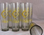 CC Citrus Glass Tumblers Vintage Free Shipping