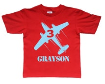 Airplane birthday shirt - personalized airplane birthday shirt for kids- you pick the colors