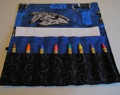 Star Wars crayon roll ships crayon caddy crayon holder organizer holds paper stickers up to16 crayons