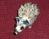 Sweet Miniature Hedgehog  sculpture handmade from a lump of clay just too cute:)!
