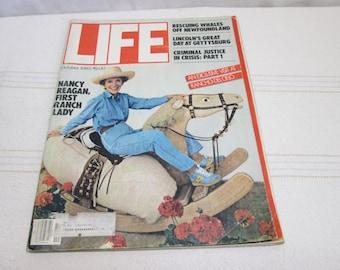 Life Magazine 1980 Nancy Regan Ronald Regan