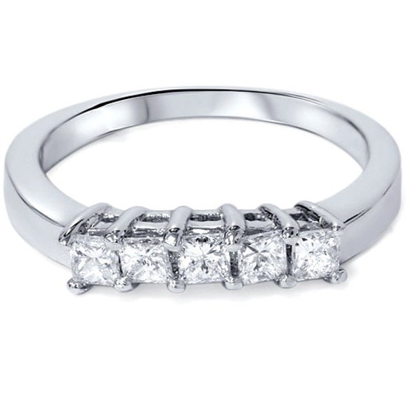 princess cut 52ct wedding curved ring enhancer band