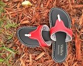 Red and Black Ladies Flip Flop / Sandal