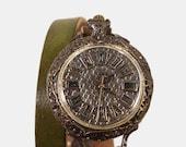 Vintage Retro Steampunk Handcraft Watch. Handstitch Leather Strap /// Barnabas - Perfect Gift for Birthday, Anniversary, Christmas