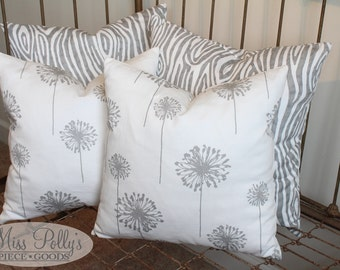 Crib Bedding- Nursery Accessories-  Decorative Throw Pillow Cover with Optional Pillow Form