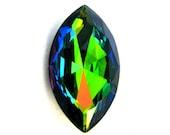 VITRAIL MEDIUM - Large Rainbow Vitrail Green Diamond Marquise Shape Crystal - 32mm x 18mm - Jewelry Supplies