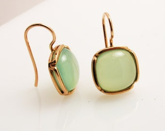 Chalcedony Earrings .