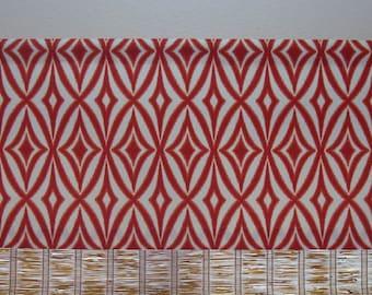 Waverly Modern Ikat Valance Kitchen Curtain Waverly Curtain 52x12 52x14 52x16  52x18