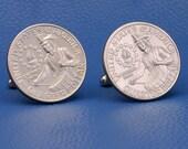 1976 American Bicentennial Quarter 25c USA Coin - New Cufflinks
