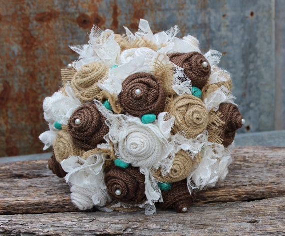 Country, Western Burlap Wedding Bouquet