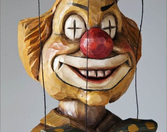 Eyebright Clown  from Czech Marionettes traditional hand carved collection