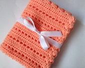 Peach baby blanket crochet