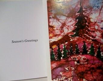 Ewe And Lamb at the Christmas   -  Holiday  Christmas Cards