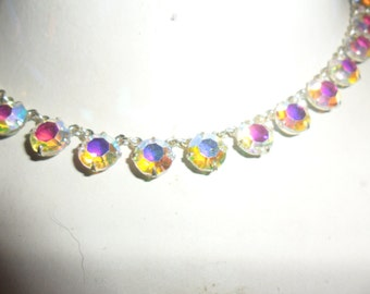 Authentic Vintage Crystal Silver Necklace