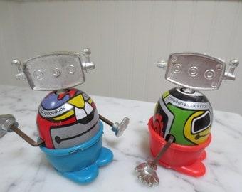 Vintage Robot Toys Made in Hong Kong