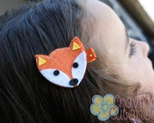 Adorable Fox Hair Clip--Meet Miss Foxie