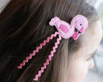 Cute Flamingo Hair Clip - Meet Miss Faye